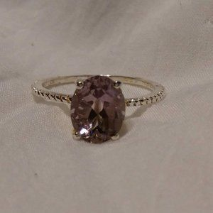 Beautiful Amethyst Sterling Silver Ring